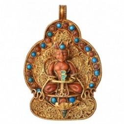 Amitabha Buddha Gemstone Silver Gau Ghau