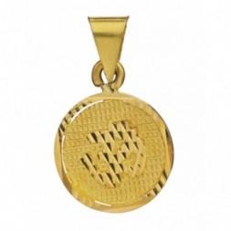 Aum Om Gold Pendant