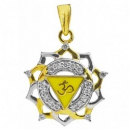 Chakra Om Aum Gold Pendant