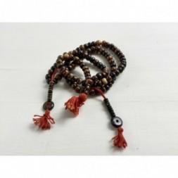 Brown Bone Mala Prayer Beads
