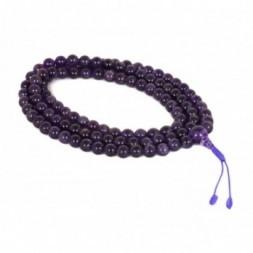 Amethyst  Superior Quality Mala Prayer Beads