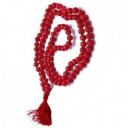 Coral Mala Prayer Beads