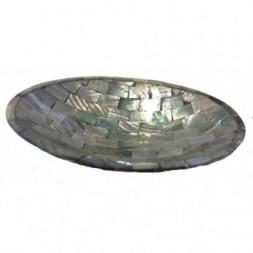 Beautiful Iridescent Paua Shell Soap Dish from Java