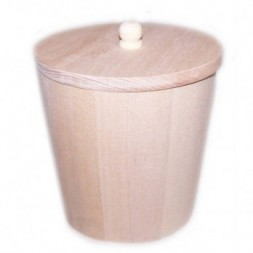 Small Wooden Tub with Lid
