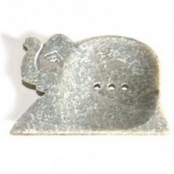 Large Soapstone Dish - Elephant