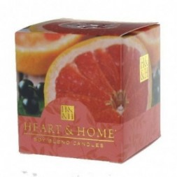 Pink Grapefruit and Cassis Heart and Home Votive Candle