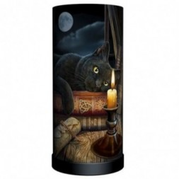 Black Cat and Candle Lamp
