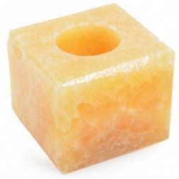 Orange Calcite tea light Holder