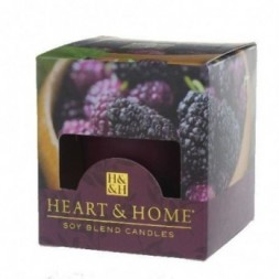 Mulberry Heart and Home Votive Candle