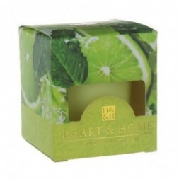 Lime Splash Heart and Home Votive Candle