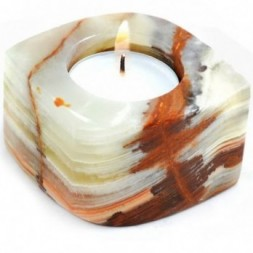 Onyx Eye Shaped tea light Holder