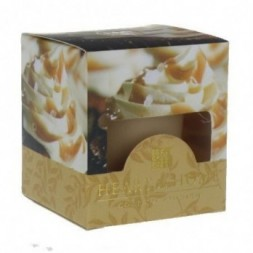 Caramel Cupcake Heart and Home Votive Candle