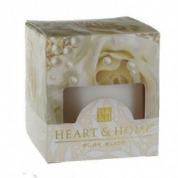 Pearl Bouquet Heart and Home Votive Candle