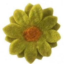 Felt Chrysanthemum Flower Brooch