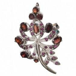 Magic Wand Garnet Brooch Pendant