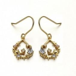 Aladdin Lamp Topaz Silver Dangling Earrings