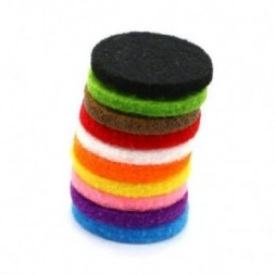Aromatherapy Necklace Reusable Refill Pad x10 - 30mm
