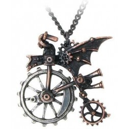 Ventus Traction Farthing-  Steampunk Pendant