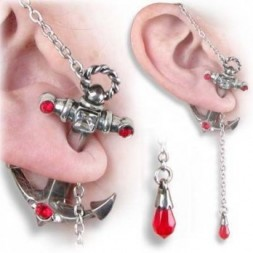 Anchors Away - Ear Stud