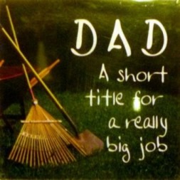 DAD A short title for a really big job Fridge Magnet