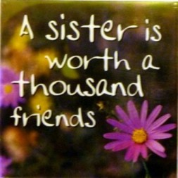 A sister is worth a thousand friends Fridge Magnet