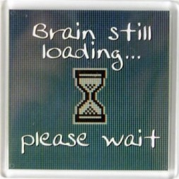 Brain still loading please wait Fridge Magnet