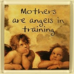 Mothers are angels in training Fridge Magnet