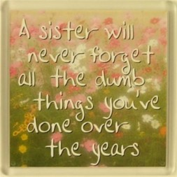 A sister will never forget... Fridge Magnet