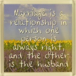 Marriage is a relationship in which... Fridge Magnet
