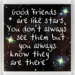 Good friends are like stars... Fridge Magnet