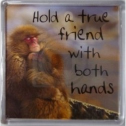 Hold a true friend with both hands Fridge Magnet