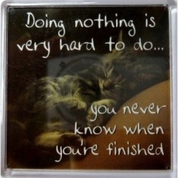 Doing nothing is very hard to do... Fridge Magnet