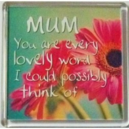 MUM You are every lovely word... Fridge Magnet