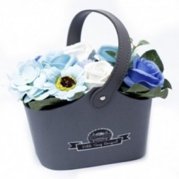 Bouquet Petite Basket - Soothing Blues Soap