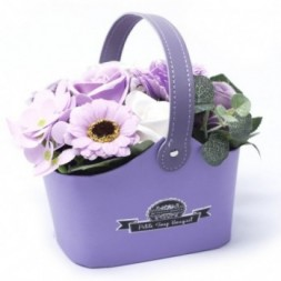 Bouquet Petite Basket - Soft Lavender Soap
