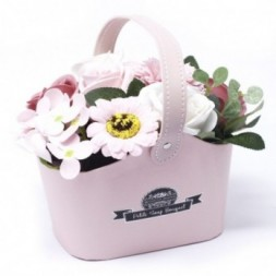 Bouquet Petite Basket - Peaceful Pink Soap