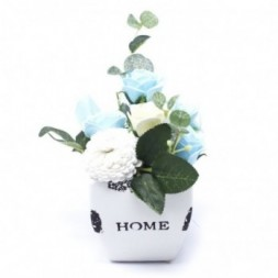 Bouquet Petite Flower Pot - Soothing Blues  Soap