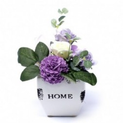 Bouquet Petite Flower Pot - Soft Lavender Soap