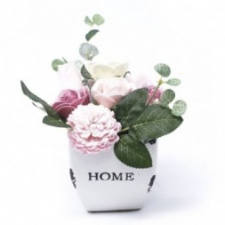 Bouquet Petite Flower Pot - Peaceful Pink Soap