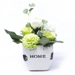 Bouquet Petite Flower Pot - Pastel Green Soap