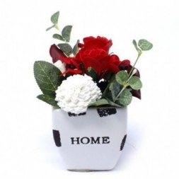 Bouquet Petite Flower Pot - Rich Reds Soap