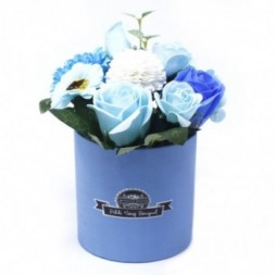 Bouquet Petite Gift Pot- Soothing Blues Soap