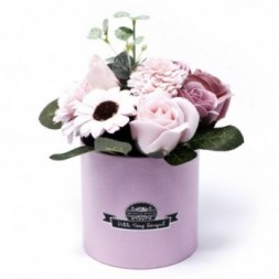 Bouquet Petite Gift Pot- Peaceful Pink Soap