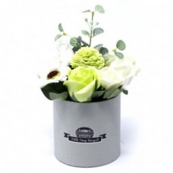 Bouquet Petite Gift Pot- Pastel Greens Soap