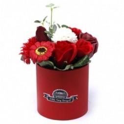 Bouquet Petite Gift Pot- Rich Reds - Soap