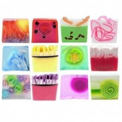 Colourful Sliced Soap Gift Set Of 12
