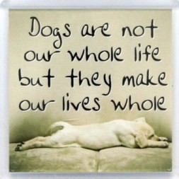 Dogs are not our whole life Fridge Magnet