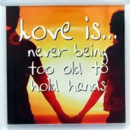 Love is never being too old Fridge Magnet