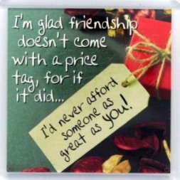 Im glad friendship doesnt come with a price tag Fridge...